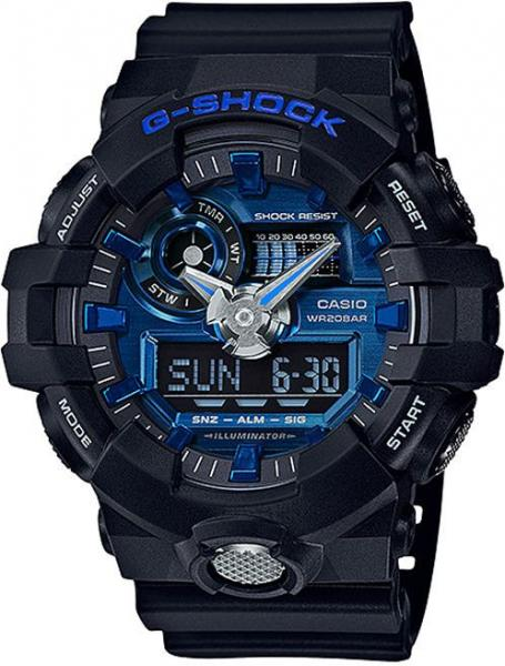 Casio Men's Blue Dial Resin Band Watch - GA-710-1A2DR