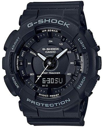 Casio G-Shock Men\\\'s Black Dial Resin Band Watch - GMA-S130-1ADR